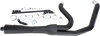 Bassani Road Rage 2-Into-1 System for Harley Davidson FXD, FXDWG '06-17 - Short Upswept Meg w/ Heat Shields