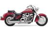 Cobra Speedster Slash-Down  Exhaust with PowerPort for VTX1800R/S/N '02-up