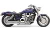 Cobra Speedster Slash-Down Exhaust with PowerPort for VTX1800C '02-up and VTX1800F '05-up