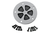 Drag Specialties Accent Style Points Cover  for '99-13 Twin Cam (5-hole) -5-Spoke, chrome