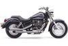 Cobra Deluxe Slash-Cut Exhaust for Sabre 1100 00-up