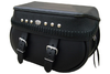 Boss Bags #34 Model  Italian Style w/ a Braided Lid Valence for Harley Models