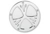 Arlen Ness   Ness-Tech Derby Cover for '99-Up Big Twin Models (Except '16 Dressers, '15 FLHCUL/FLHTKL) -Deep Cut, Chrome