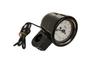 Baron Custom Black Bullet Tachometers w/ a White Face for 1 inch  Handlebars