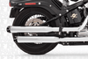 Freedom Performance  3¼ inch Signature Slip Ons for '07-17 Softail Chrome w/ Black Tip