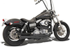 Bassani Road Rage II 2-Into-1 Mega Power System for FXD  '91-Up W/ Mid or Forward Controls Black w/ Black Billet End Caps & Contrasting Machined Flutes
