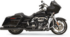 Bassani True Dual Down Under for 2017-Up Harley Davidson Touring - Black  (Uses '95-16 Mufflers Sold Separately)