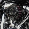 Cobra Complete Stage 1 Power Package for '17-20Harley Davidson Touring with Black 4.5 PowrFlo Slip Ons
