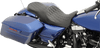 Drag Specialties Seats Forward-Positioning Low Profile Touring Seat for Harley Davidson Touring Models 2008-Up -Double Diamond Stitch