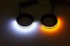 Custom Dynamics Turn Signals w/ Daytime Running Lights -Gloss Black, 43mm