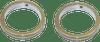 Custom Dynamics Turn Signals Daytime Running Lights -Chrome, 49mm
