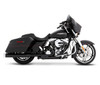 Rinehart Racing 4 inch Slimline Dual Exhaust System for '17- Up Harley Davidson Touring Models - Black w/ Chrome End Caps