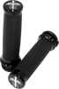 Carl Brouhard Cross Style Grips for Certain '84-17 HD Models (Click for Fitment) -Chrome