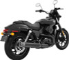 """Freedom Performance 4"""" Racing Slip-Ons for '15 & Up HD XG 500 and 750 Street -Black w/ Black End Caps"""