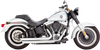 Vance & Hines Big Shots Staggered for '86-17 Softail Models (Click for fitment) - Chrome