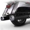 RCX 4.5 inch Slip On Mufflers for Harley Davidson Touring Models '17-Up- Black (Select Tips)
