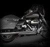 RCX 4 inch Slip On Mufflers for Harley Davidson Touring Models '17-Up - Chrome (16 Tip Styles To Choose From)