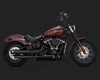 Vance & Hines Twin Slash Slip On Mufflers for Harley Davidson Softail Models '18-Up - Wrinkle Black (NOT for Softail Deluxe, Heritage Classic, Fat Bob)