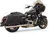 Bassani Road Rage III Mega 2-Into-1 Stainless Exhaust for '95-16 Touring Models