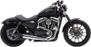Cobra El Diablo 2-into-1 Exhaust for Harley Davidson XL Sportster Models '07-13 - Chrome with Billet Tip