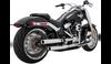 Vance & Hines Eliminator 300 Slip On Mufflers for '18-Up Harley Davidson Softail Models - Satin Chrome