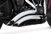 Vance & Hines Big Radius 2-Into-2 for 2018-Up Harley-Davidson Softail Models - Chrome (Not For Fatboy or Breakout, Click for Fitment)