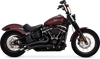 Vance & Hines Big Radius 2-Into-2 for 2018-Up Harley-Davidson Softail Models - Matte Black (Not For Fatboy or Breakout, Click for Fitment)