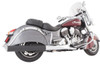 TAB Performance B.A.M. 4 inch Sticks Tip Compatible Slip On Mufflers for '14-Up Indian Chief Classic, Chief Vintage, Dark Horse - Chrome or Black