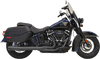 Bassani 2 into 1 Exhaust System for '18-Up Harley-Davidson Heritage & Deluxe models - Choose Chrome or Black