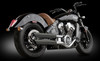 RCX 3 inch Slash Cut Slip On Mufflers for 14-Up Indian Scout (Choose Chrome or Black)