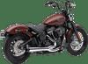 Cobra El Diablo 2-into-1 Exhaust System for 18-Up Harley Davidson Softail FLSB Super Glide and FLHC/FLHCS Heritage Models (Choose Chrome or Black)