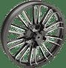 "Coastal Moto Precision Cast Atlantic 3D Front Wheels for '00-07 Harley-Davidson FLHX, FLTRX, FLHR (Choose Chrome or Black) 21"""