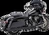 Cobra El Diablo 2 into 1 Exhaust for '17-Up Harley Davidson Touring Models - Black