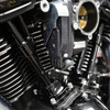 S&S Cycle Quickee Pushrods with Gloss Black Covers for '17-up M8 Models