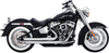 Vance & Hines Big Shots Staggered for Harley Davidson Softail Models - Chrome (Click for Fitment)