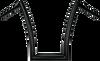 Todd's Cycle 1.5 inch Strip Handlebars (17 inch) Chrome, Black or Flat Black
