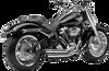 Cobra Speedster Slashdown Exhaust for '18-Up Harley Davidson Breakout 114, Fat Boy 114 and Sport Glide - Chrome