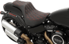 Drag Specialties Predator III Seat for '18-Up Harley Davidson Fat Bob Softail - Double Diamond, Red Thread