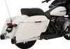 Drag Specialties 4 inch Slip On Mufflers with Billet End Caps for '95-Up Harley-Davidson Touring Models (Choose Year Range and Finish)