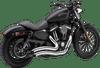 Cobra Speedster Short Swept Exhaust for '14-Up Harley Davidson Sportster Models