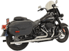 Bassani Dual Exhaust with Straight Mufflers for '18-Up Harley Davidson Heritage Classic and Deluxe