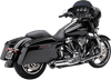 Cobra Turnout 2-into-1 Exhaust System for '17-Up Harley-Davidson Touring