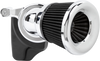 Arlen Ness Velocity 65° Air Cleaner Kit for '01-17 Delphi Twin Cam Models, '99-06 Carb Models (Excludes '08-16 Touring, '16-17 FXDLS, '16-17 Softail Models, '14-15 FLSTNSE, '13-14 FXSBSE and '11-12 FLSTSE) - Choose Chrome or Black