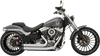 Khrome Werks Drag Style Stepped Header 2-into-2 Exhaust System for '00-17 Harley Davidson Softail Models - Billet Tips (Click for Fitment and Finish)