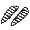 Ness MX Billet Driver Floorboards for '82-Up Harley Davidson Touring, Softail and Dyna (Click for Fitment) Chrome or Black