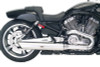 TAB Performance Satin Nickel Slip On Mufflers for '09-17 Harley Davidson VRSCF V-ROD Muscle