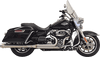 Bassani 50th Anniversary 2-1 Stainless Exhaust System for '17-Up Harley Davidson Touring Models