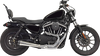 Bassani Road Rage 2-into-1 4 inch Megaphone Upsweep Exhaust for '04-Up Harley-Davidson Sportster with Mid-Controls (Choose Chrome or Black)
