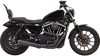 Bassani Road Rage 2-into-1 4 inch Megaphone Upsweep Exhaust for '86-03 Harley-Davidson Sportster with Mid-Controls (Choose Chrome or Black)