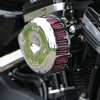 S&S Cycle Mini Stealth Air Cleaner Kit for '07-Up Harley Davidson Sportster - Chrome